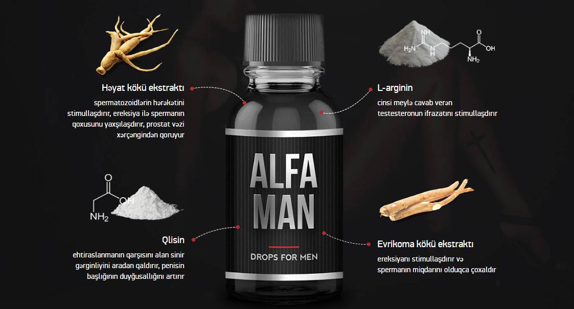 Alfa Man haqqında, faydaları, tərlkibi